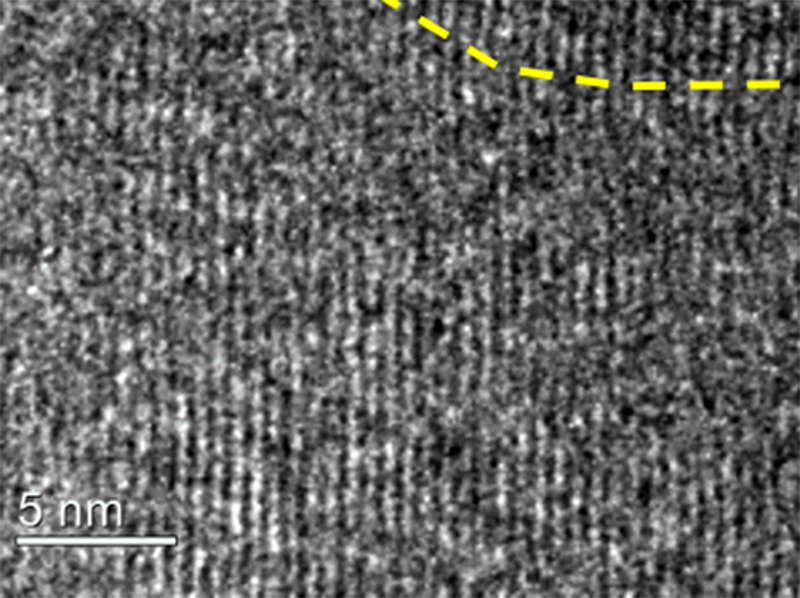 Striations observed for Nanothread TEM